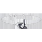 Pulsera Corazones - Cómplices - oro blanco 9 quilates y diamantes negros