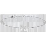 Pulsera Croix Oro Blanco y Diamantes - 9 quilates