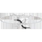 Pulsera Frescura - Lirio de verano - oro blanco y diamantes negros