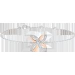 Pulsera Frescura - Lirio de Verano - oro blanco y oro rosa 9 quilates
