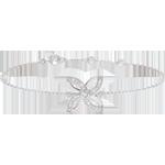 regalos mujer Pulsera Frescura - Lirio de verano - oro blanco