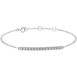 Pulsera Oro Blanco Brillante - 15 Diamantes
