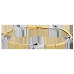 Pulsera triología - oro blanco y amarillo 18 quilates