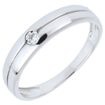Real Eden Ring wit goud en diamant - 0.022 karaat