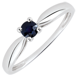Reed Solitaire Engagement Ring - 0.24 carat sapphire - white gold 18 carats