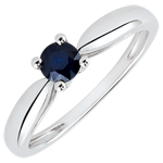 gift Reed Solitaire Engagement Ring - 0.35 carat sapphire - white gold 18 carats