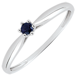 gifts woman Reed Solitaire Engagement Ring - 6 claws - 0.07 carat sapphire - white gold 18 carats