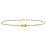 Regard d'Orient bracelet - peridot and diamonds - yellow gold 9 carats