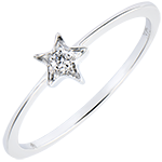 Ring Abundance- My star - white gold 18 carats and diamond