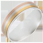 Frau Ring Bänder aus drei Goldtönen