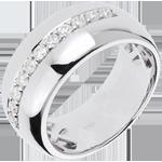 Ring Betovering - Maanuitbarsting - Wit Goud - 0.37 karaat - 11 Diamanten