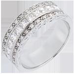 verkoop online Ring Betovering - Venus - wit goud semi geplaveid - 0.87 karaat - 35 diamanten