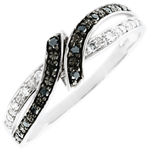 gold jewelry Ring Clair Obscure - Rendez-vous - black diamonds - 18 carat