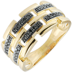 wedding Ring Clair Obscure - Secret Path - yellow gold - 9 carat large model