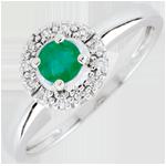 Geschenk Frauen Ring Clévia - Smaragd