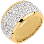 present Ring Constellation - Celestial Landscape - yellow gold paved - 2.05 carat - 79 diamonds