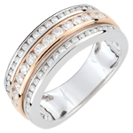 gold jewelry Ring Constellation - Milky Way - rose gold - 0.63 carat - 52 diamonds