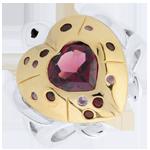 Ring Dagdromen - Schildpad liefde - zilver en edelstenen