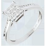 Online Kauf Ring Damier in Weissgold - 0.48 Karat