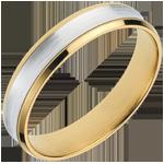 Ring Dandy 18 karaat witgoud en geelgoud - 4mm
