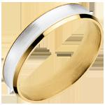 Verkauf Ring Dandy aus Gelbgold und Weissgold - 5mm