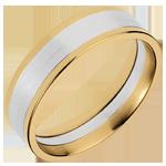 Ring Dandy aus Gelbgold und Weissgold - 6mm