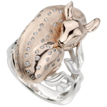 Ring Denkbeeldige Balade - Fawn Dromer - roze goud en diamanten