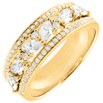 gift Ring Destiny - Byzantine - yellow gold and diamonds - 18 carat