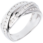 women Ring Destiny - diamond 0.63 carat - white gold - 18 carats