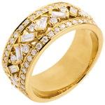 Ring Destiny - Empress - yellow gold diamonds - 0.85 carat