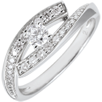 sell Ring Destiny Solitaire - Diva - white gold - small size - 0.08 carat - 18 carat