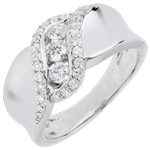gifts woman Ring Destiny Trilogy - Scheherazade - white gold