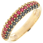 Geschenke Frau Ring Deutschland - Gold mit schwarzen Diamanten und Edelsteinen