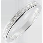 verkoop online Ring Diamanten Prinses rails - 0.36 karaat