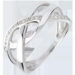 Online Verkauf Ring Diamantgitter in Weissgold