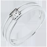 Online Kauf Ring Dreirangig in Weißgold