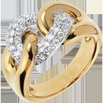 koop Ring Eindeloze Band Geel Goud