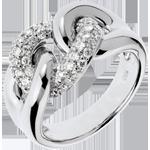 verkoop online Ring Eindeloze band wit Goud