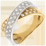 Juweliere Ring Ellipse voll besetzt - 0.5 Karat - 36 Diamanten