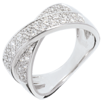 Verkäufe Ring Ellipse voll besetzt in Weissgold - 0.5 Karat - 36 Diamanten