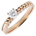 gold jewelry Ring Enchanted Garden - Braid Solitaire - rose gold - 0.2 carat - 9 carat
