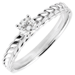 Ring Enchanted Garden - Braid Solitaire - white gold - 0.2 carat - 9 carat