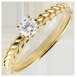 Ring Enchanted Garden - Braid Solitaire - yellow gold - 0.2 carat - 18 carat