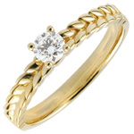 gold jewelry Ring Enchanted Garden - Braid Solitaire - yellow gold - 0.2 carat - 9 carat
