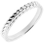 gift Ring Enchanted Garden - Braid - white gold - 18 carat