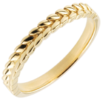 gifts women Ring Enchanted Garden - Braid - yellow gold - 9 carat