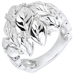 gift women Ring Enchanted Garden - Precious Dew white gold