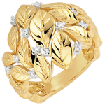 gifts women Ring Enchanted Garden - Precious Dew yellow gold