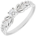 gift woman Ring Enchanted Garden - Solitaire Fresia - white gold - 0.20 carat - 18 carat