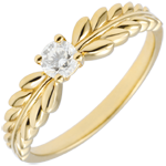 gift woman Ring Enchanted Garden - Solitaire Fresia - yellow gold - 0.20 carat - 9 carat